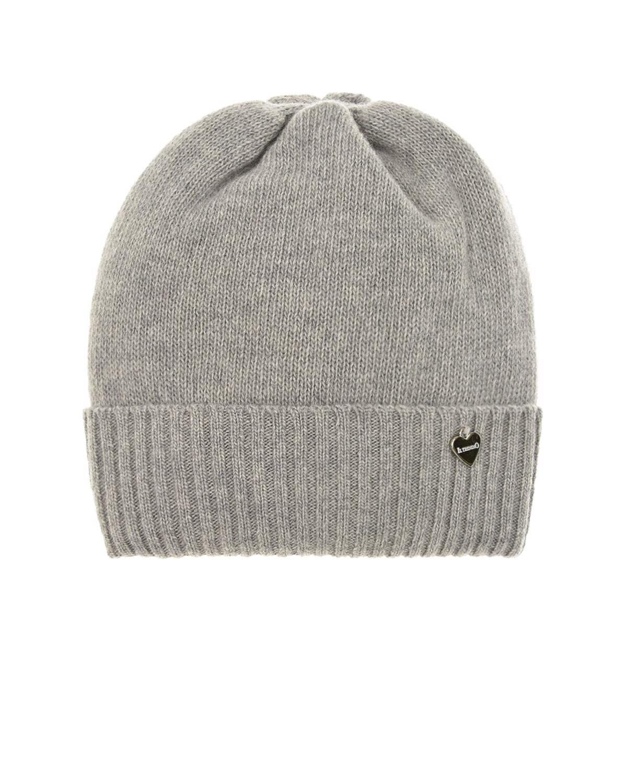 Купить Серая шапка из кашемира и шерсти Il Trenino детская, Серый, 30%кашемир+70%шерсть