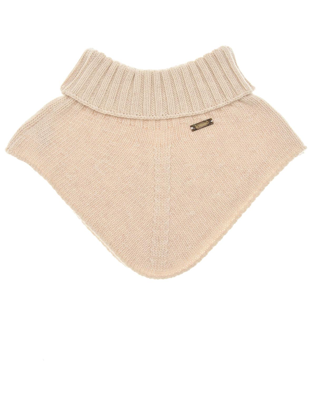 Купить Бежевый шарф-горло из кашемира и шерсти Il Trenino детский, 70%шерсть+30%кашемир