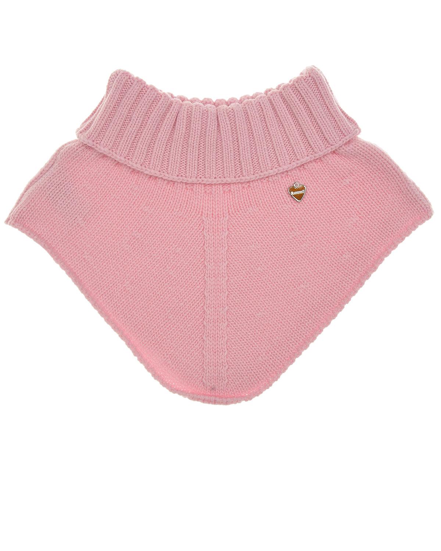 Купить Розовый шарф-горло из кашемира и шерсти Il Trenino детский, 70%шерсть+30%кашемир