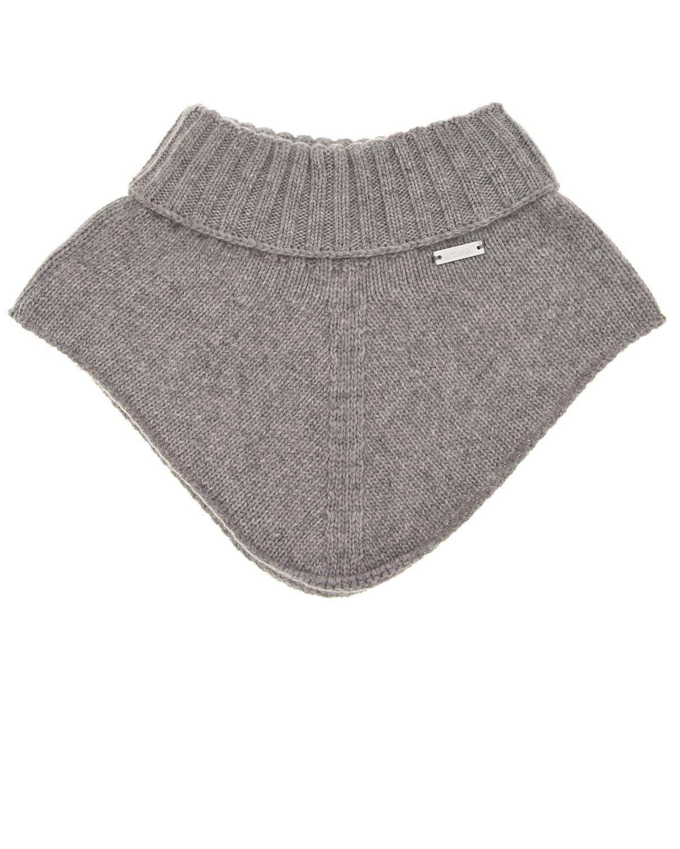 Купить Серый шарф-горло из шерсти и кашемира Il Trenino детский, 70%шерсть+30%кашемир