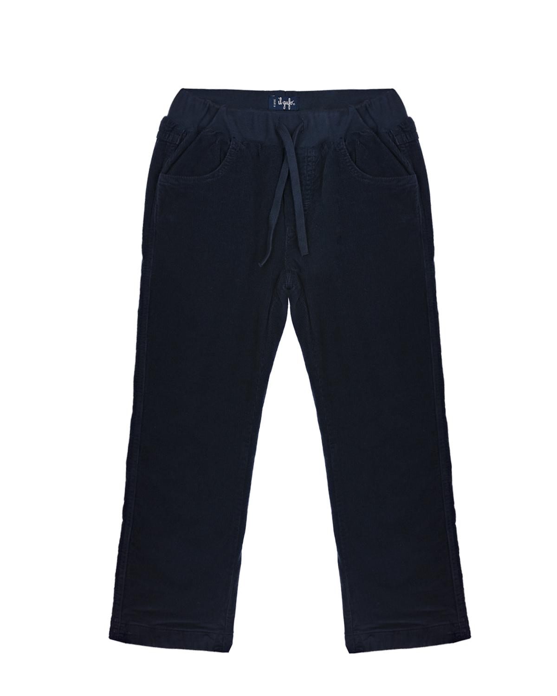 Купить Утепленные вельветовые брюки IL Gufo детские, Синий, 98%хлопок+2%эластан, 100%хлопок, 95%хлопок+5%эластан, 100%полиэстер