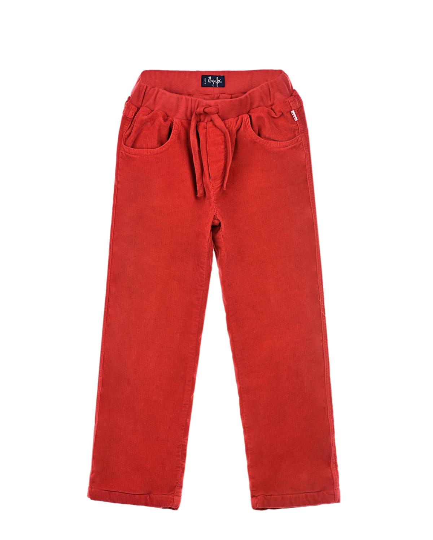 Купить Утепленные брюки из вельвета IL Gufo детские, Розовый, 98%хлопок+2%эластан, 100%хлопок, 95%хлопок+5%эластан, 100%полиэстер
