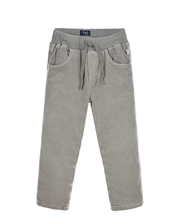Купить Утепленные брюки для мальчиков IL Gufo детские, Серый, 98%хлопок+2%эластан, 100%хлопок, 95%хлопок+5%эластан, 100%полиэстер