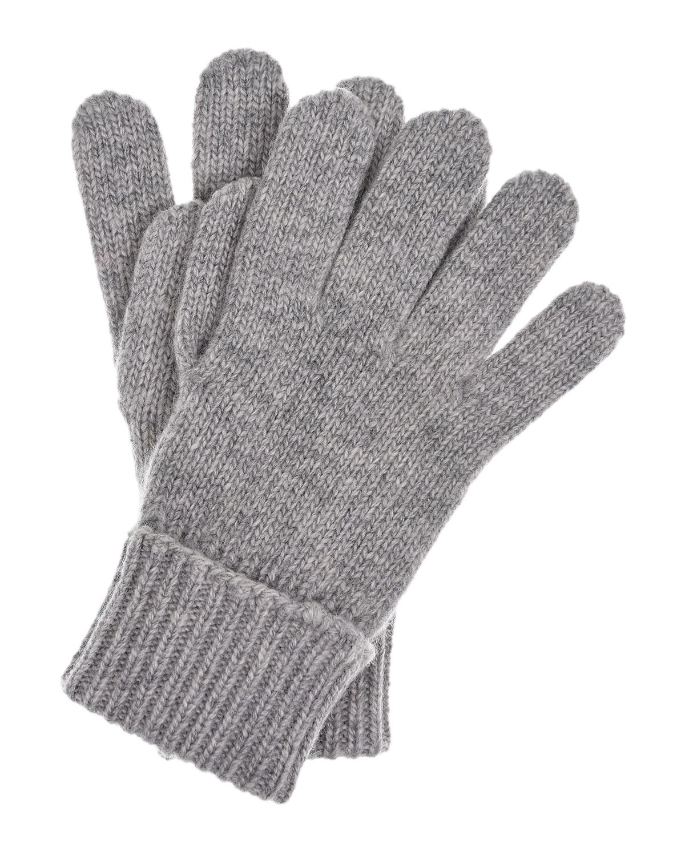 Купить Серые перчатки из шерсти и кашемира Il Trenino детские, Серый, 70%шерсть+30%кашемир