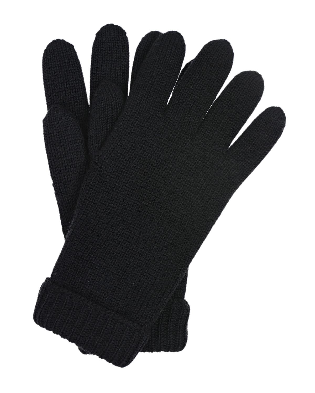 Купить Базовые перчатки из шерсти Il Trenino детские, Черный, 100%шерсть