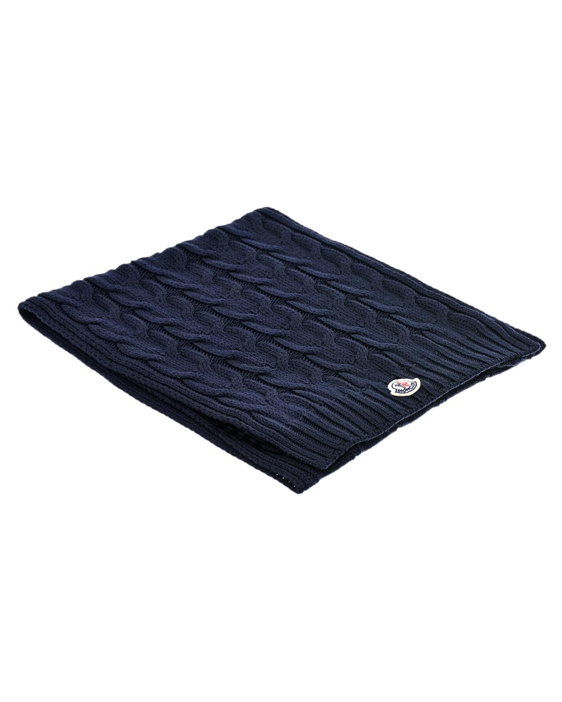 Темно-синий шарф из шерсти Moncler детское