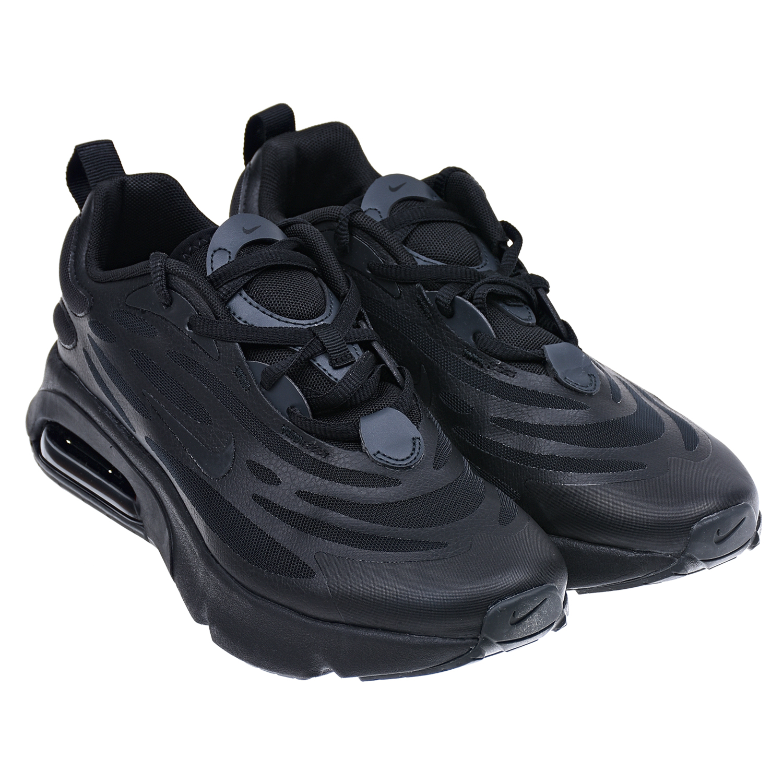 Купить Черные кроссовки Air Max Exosense Nike детские, Черный, верх:74%синтет.кожа+26%текстиль, подкладка:100%текстиль, подошва:100%резина