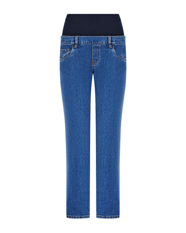 Купить Укороченные джинсы для беременных Pietro Brunelli, Синий, 98%хлопок+2%эластан, 91%вискоза+9%эластан