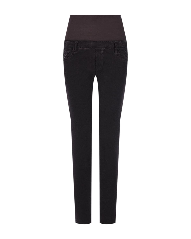 Зауженные брюки из вельвета Pietro Brunelli коричневого цвета