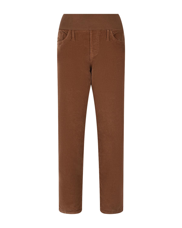 Вельветовые брюки для беременных Pietro Brunelli бежевого цвета