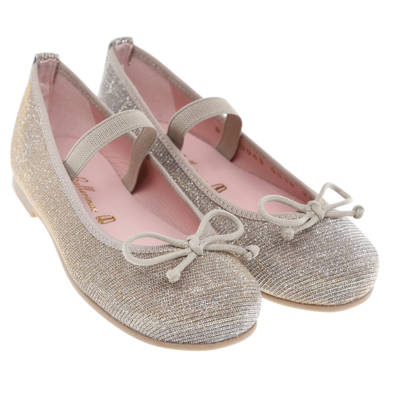 Купить Текстильные туфли с золотистым люрексом Pretty Ballerinas детские, Нет цвета, Верх:100%текстиль(64%хлопок+29%полиэстер+7%нейлон), подкладка:100% кожа, стелька:100%нат.кожа, подошва:100% резина