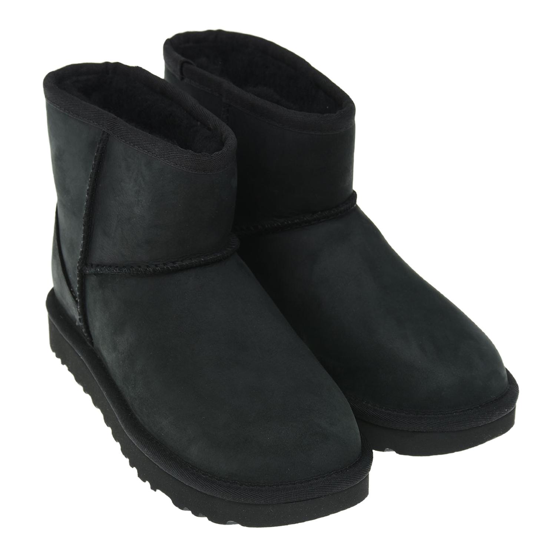 Купить Черные угги из замши UGG детские, Черный, верх:100%нат.кожа, подкладка:100%шерсть, подошва:100%ЭВА