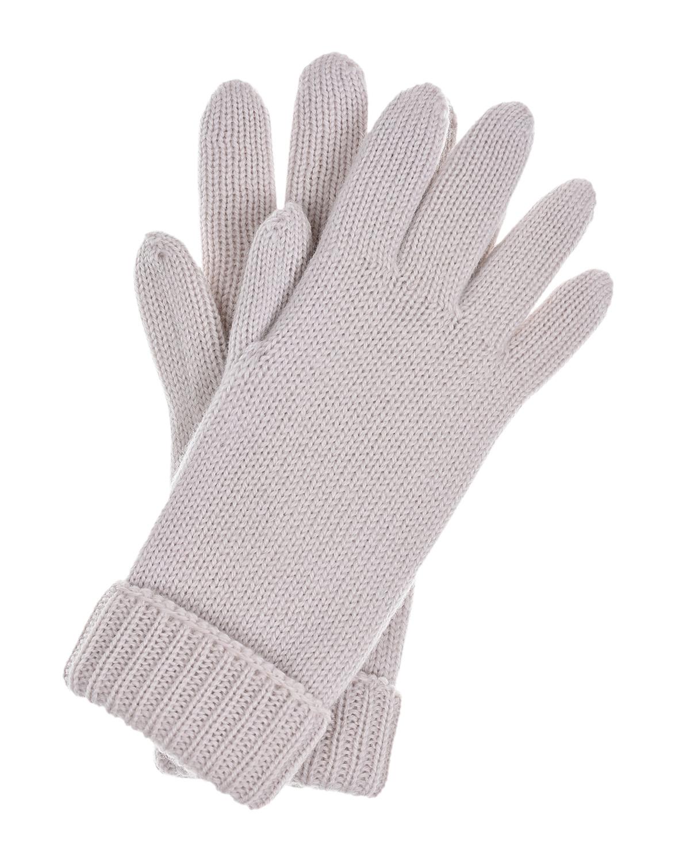 Купить Базовые перчатки из шерсти Il Trenino детские, Бежевый, 100%шерсть