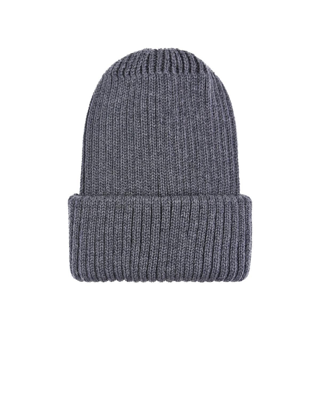 Купить Темно-серая шапка из шерсти Catya детское, Серый, 100% шерсть