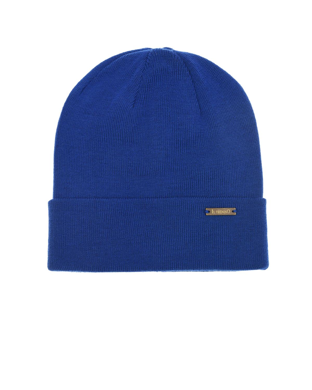 Купить Ярко-синяя шапка из шерсти Il Trenino детское, Синий, 100%шерсть