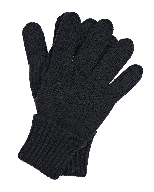 Купить Черные перчатки из шерсти Il Trenino детские, Черный, 100%шерсть