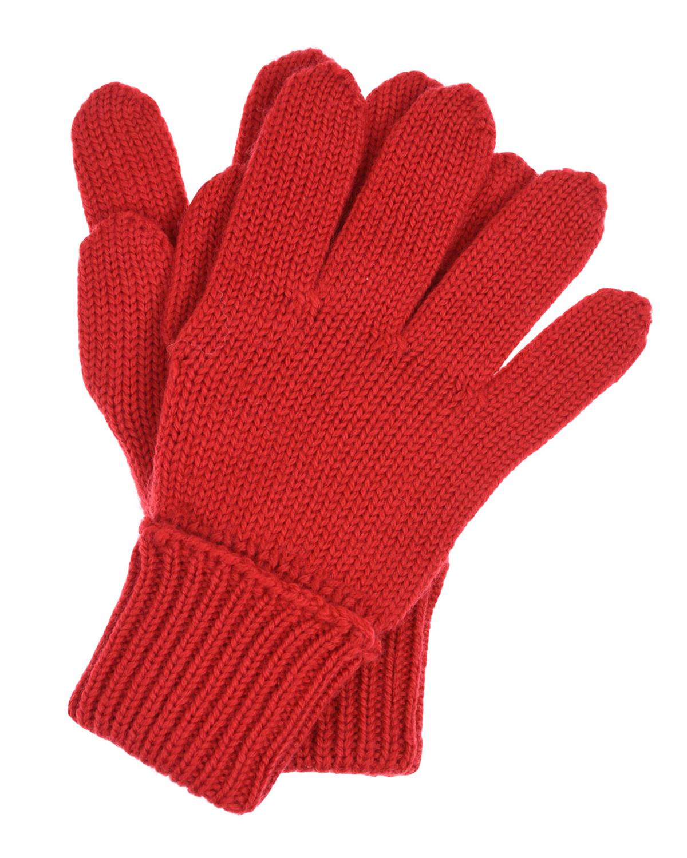 Купить Красные перчатки из шерсти Il Trenino детские, Красный, 100%шерсть