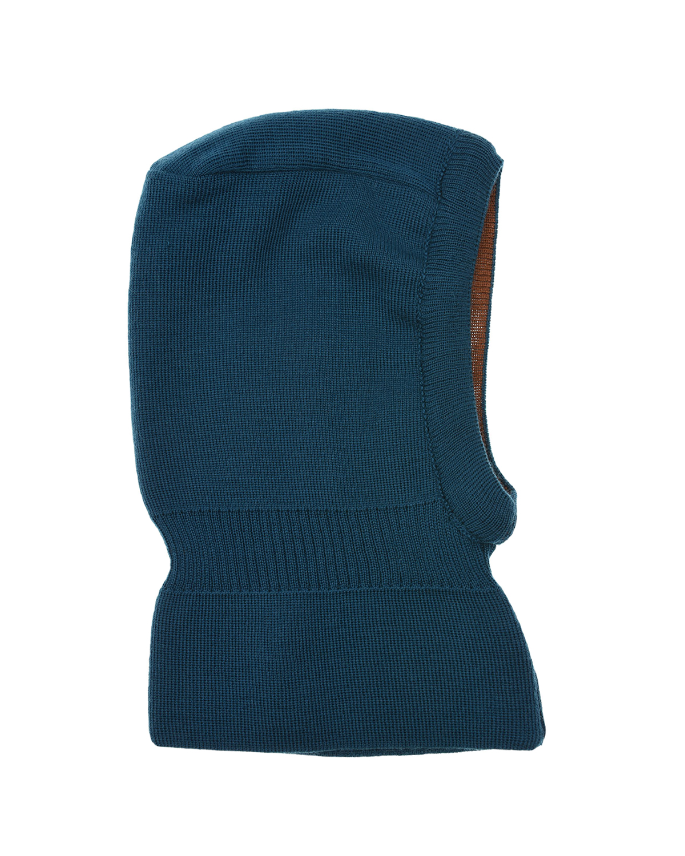 Купить Двухстороняя шапка-шлем из шерсти MaxiMo детская, Зеленый, 100% шерсть