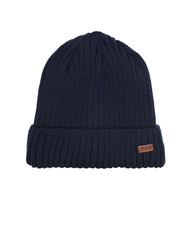 Купить Темно-синяя шапка из шерсти и флиса MaxiMo детское, Синий, 100% шерсть, 100% полиэстер