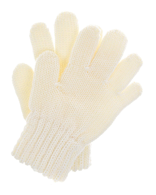 Купить Шерстяные перчатки кремового цвета MaxiMo детские, Кремовый, 100% шерсть