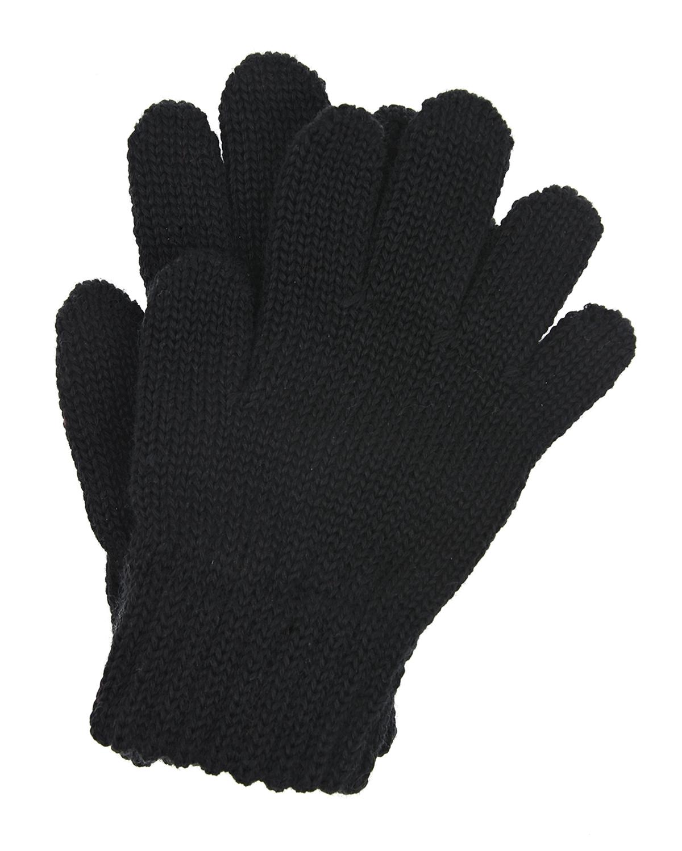 Купить Черные перчатки из шерсти MaxiMo детские, Черный, 100% шерсть