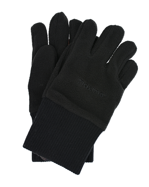 Купить Флисовые перчатки черного цвета MaxiMo детские, Черный, 100% полиэстер
