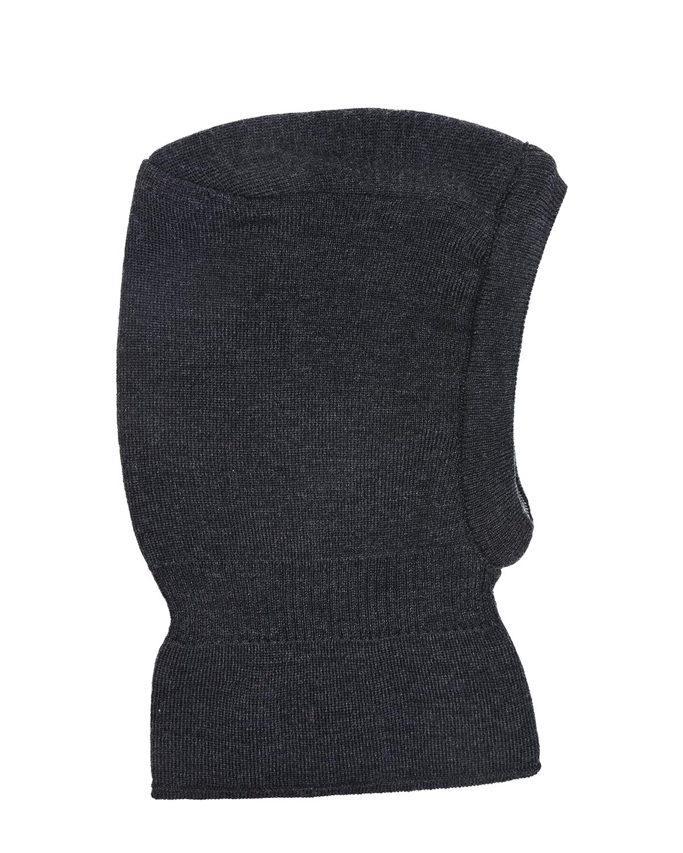 Купить Двухсторонняя шапка-шлем для мальчиков MaxiMo детская, Серый, 100% шерсть