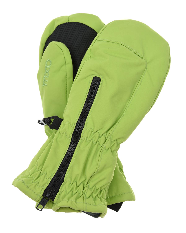 Купить Зеленые непромокаемые варежки на молнии MaxiMo детские, Зеленый, 100% полиамид, 100% полиэстер