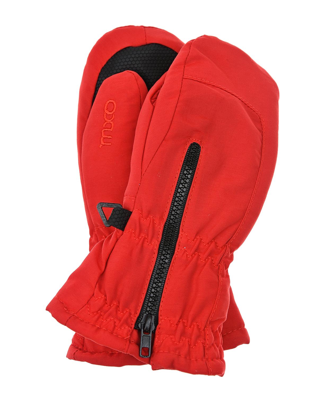 Купить Непромокаемые варежки с молнией MaxiMo детские, Красный, 100% полиамид, 100% полиэстер