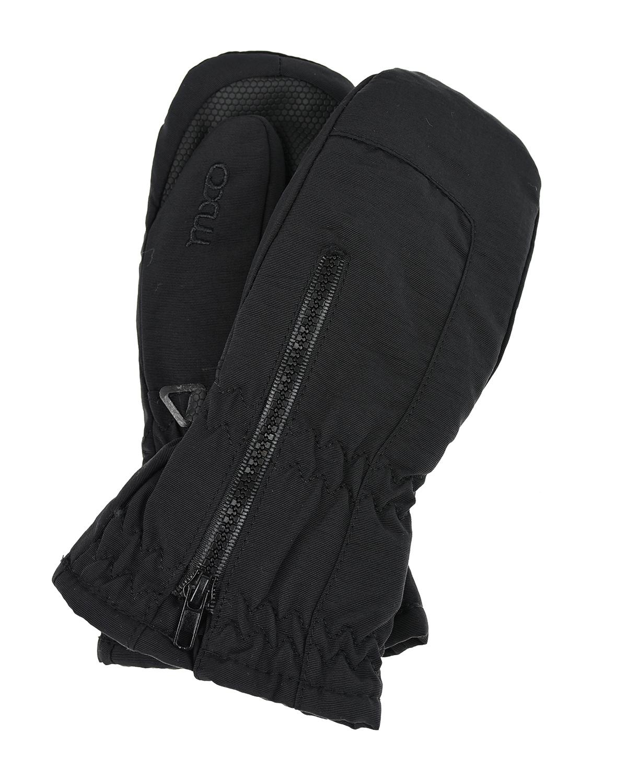 Купить Черные непромокаемые варежки с молнией MaxiMo детские, Черный, 100% полиамид, 100% полиэстер
