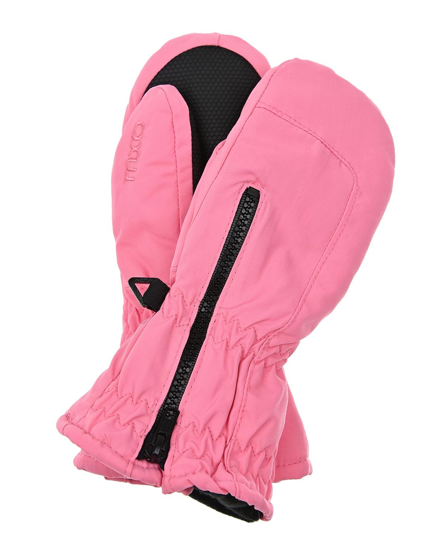 Купить Розовые непромокаемые варежки на молнии MaxiMo детские, Розовый, 100% полиамид, 100% полиэстер