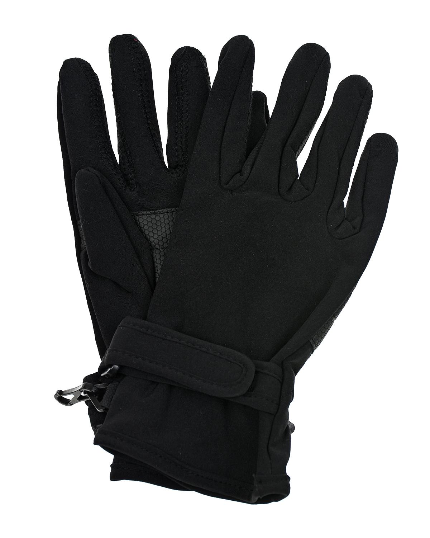 Купить Черные непромокаемые перчатки MaxiMo детские, Черный, 100%полиамид, 100%полиэстер