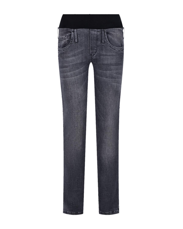 Купить Темно-серые джинсы для беременных Pietro Brunelli, Нет цвета, 92%хлопок+4%лайкра+4%эластан, 98%хлопок+2%эластан