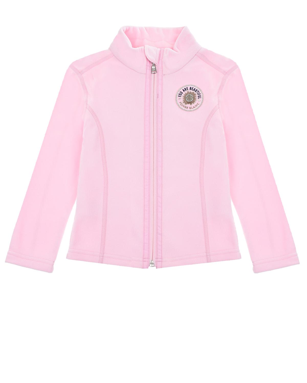 Купить Розовая кофта из флиса Poivre Blanc детская, Розовый, 100%полиэстер