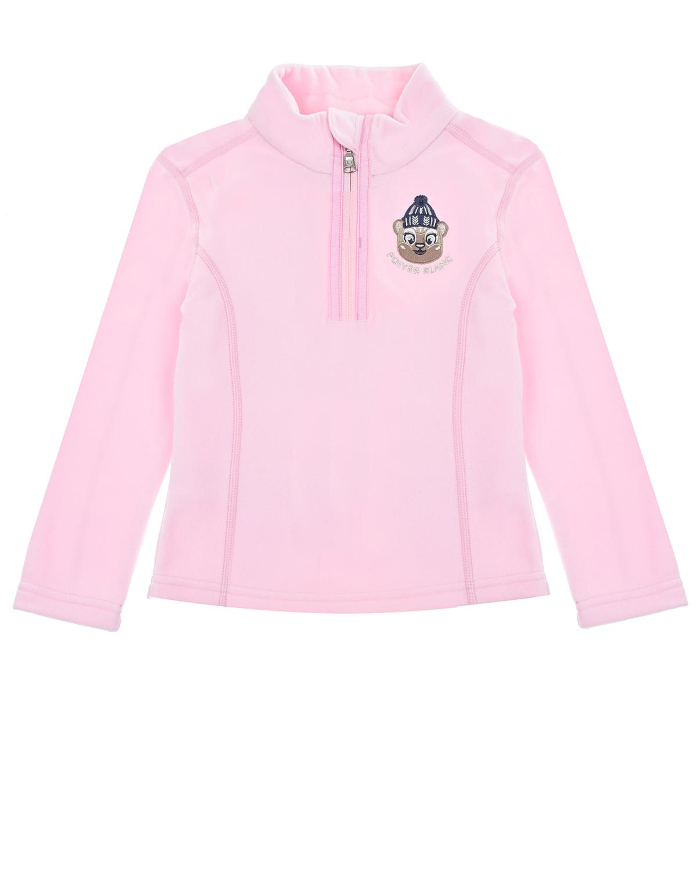 Купить Розовая толстовка из флиса Poivre Blanc детская, Розовый, 100%полиэстер