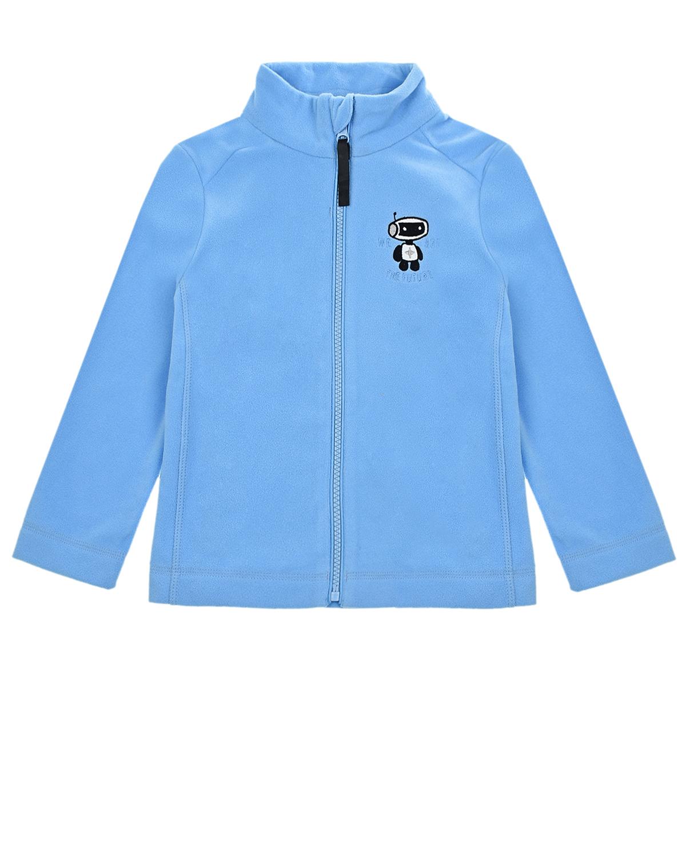 Купить Голубая кофта из флиса Poivre Blanc детская, Голубой, 100%полиэстер