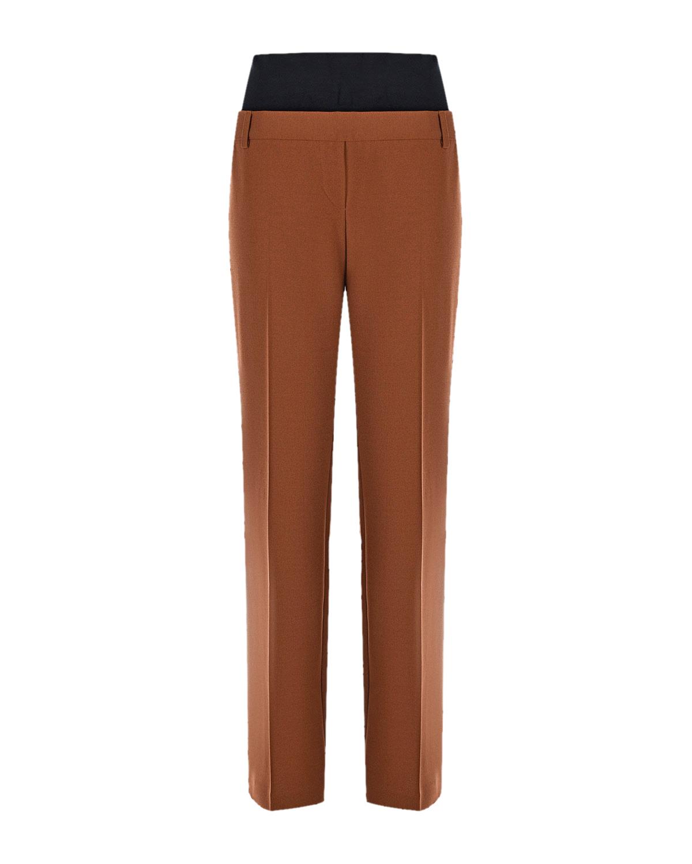 Прямые брюки для беременных Collin Pietro Brunelli коричневого цвета
