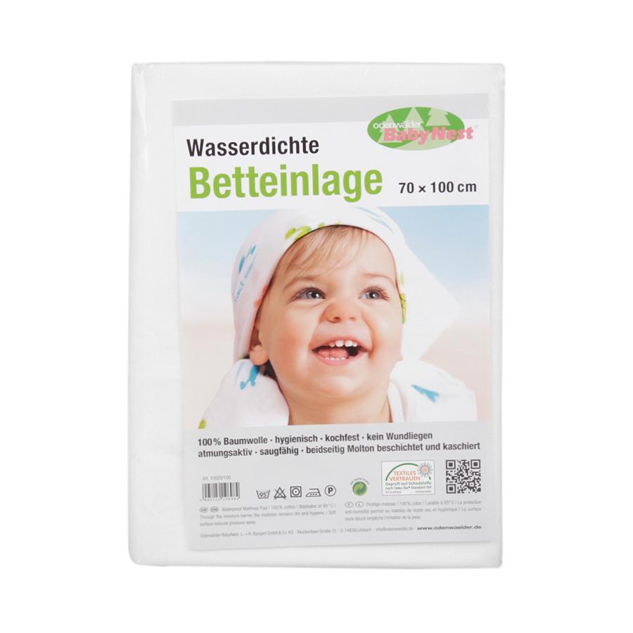 Odenwalder BabyNest Простыня BabyNest непромокаемая, белая 70х100 см