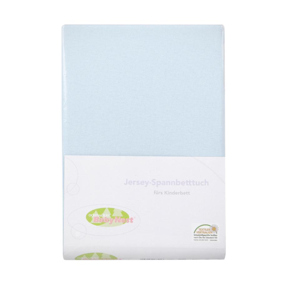 Простыня на резинке BabyNest Jersey 60/120-70/140 голубаяПростыни<br><br>