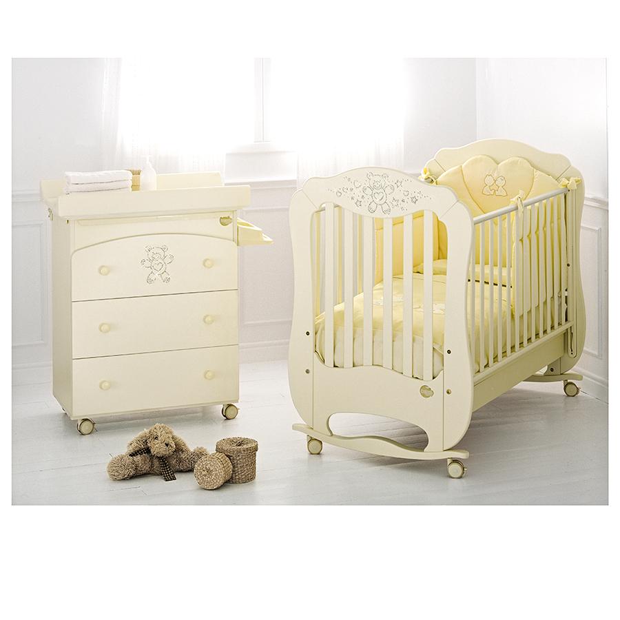 Комплект мебели для детской (кровать и пеленальный стол) Baby Expert Diamante