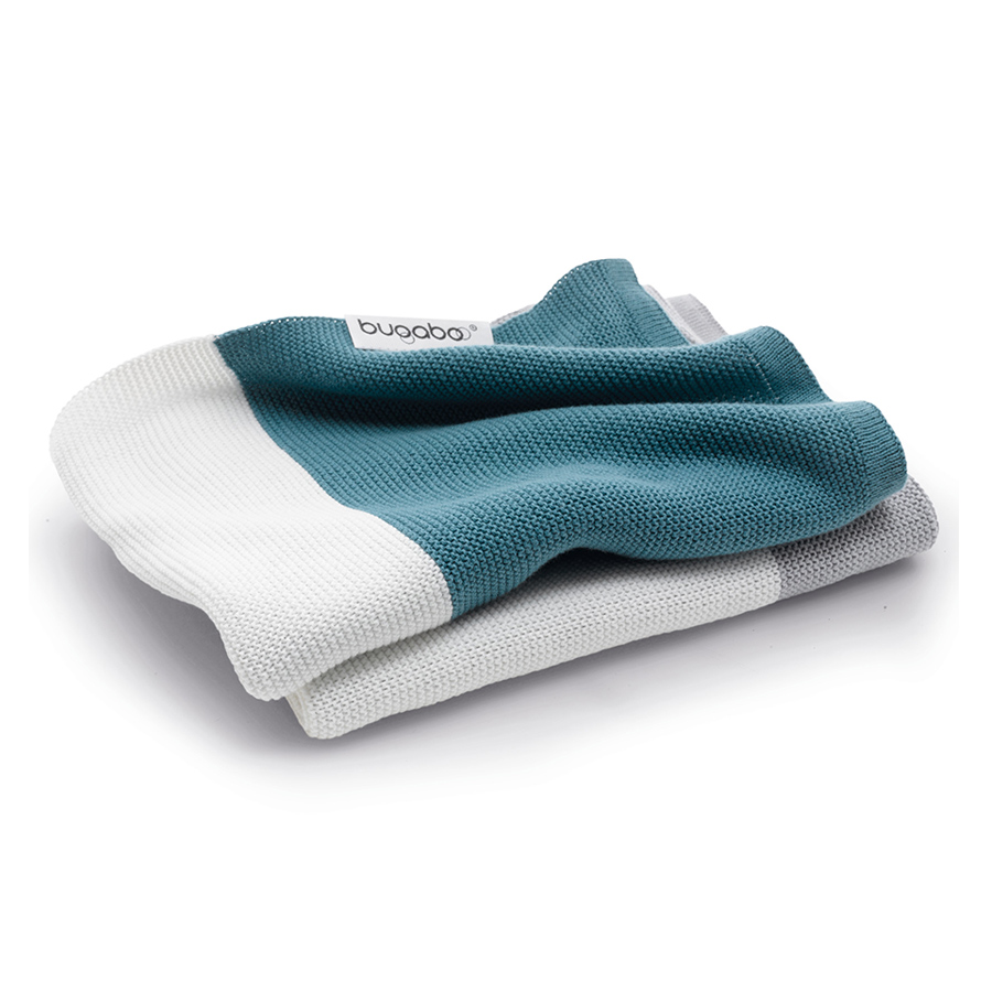 Плед Bugaboo Light Cotton Blanket petrol blue multi