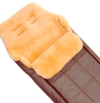 Купить Конверт CHRIST Babysweet DAVOS коричневый, Коричневый, натуральная овчина, синтетические материалы