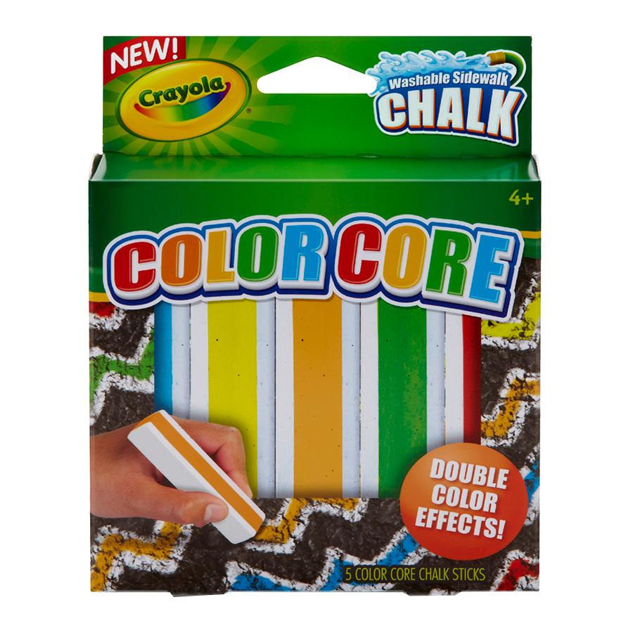 Мелки Crayola 5 цв. для асфальта с цветным стержнем