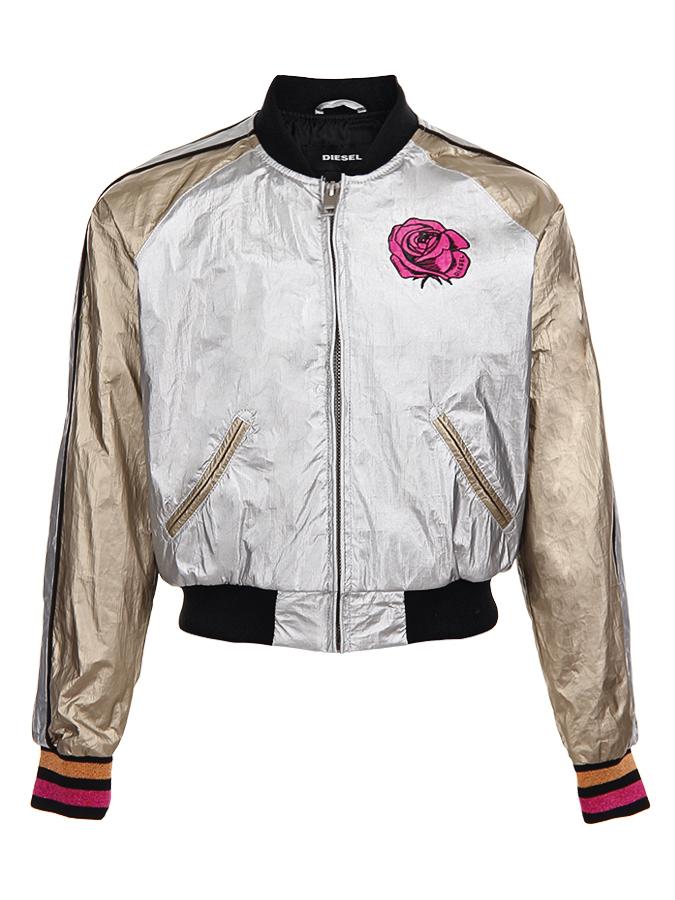 Куртка-бомбер Diesel для девочекКуртки демисезонные<br><br>