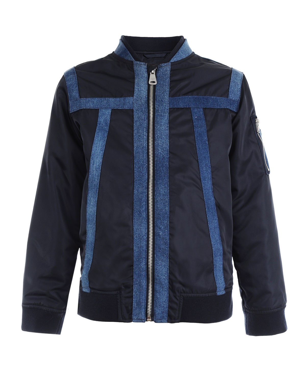 Куртка-бомбер с отделкой из денима Emporio Armani