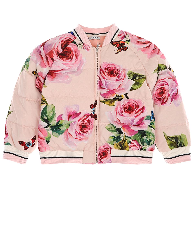 Купить со скидкой Куртка-бомбер с принтом