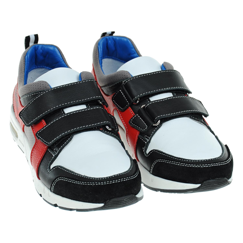 Кроссовки с контрастной отделкой и застежками велькро