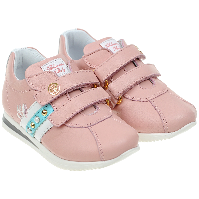 Кожаные кроссовки с декоративной отделкойКроссовки<br><br>
