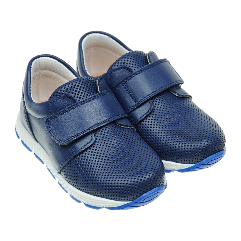 Синие кроссовки с перфорациейКроссовки<br><br>