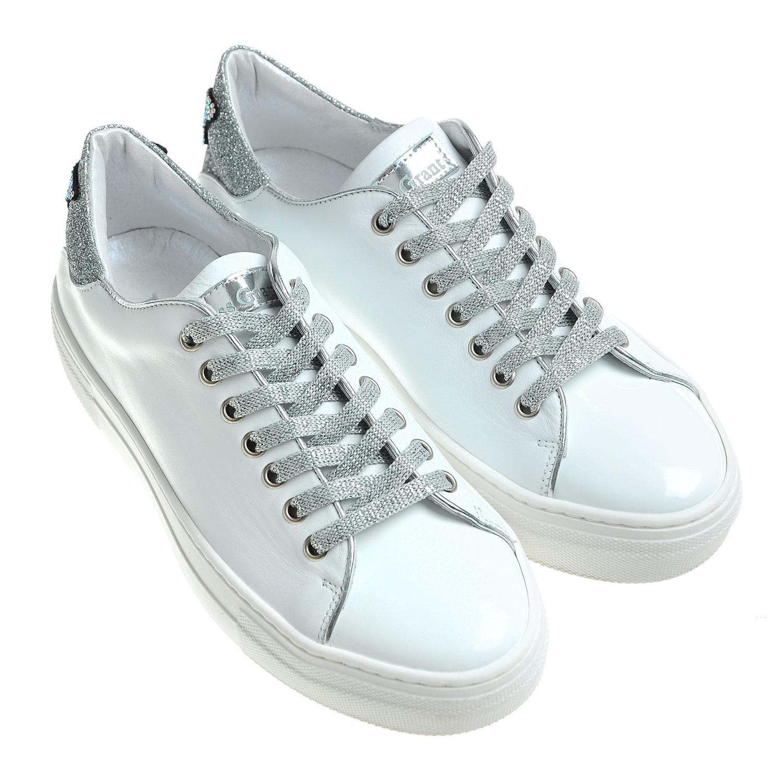 Купить Белые кеды с серебристыми шнурками, Miss Grant